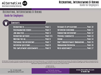 Interviewing Guide for Employers
