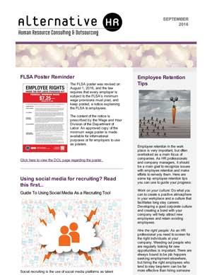 October 2016 HR Newsletter