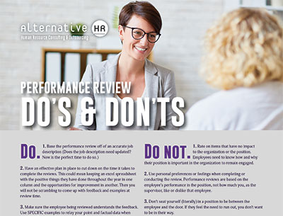 Performance Review Do's and Don'ts Guide